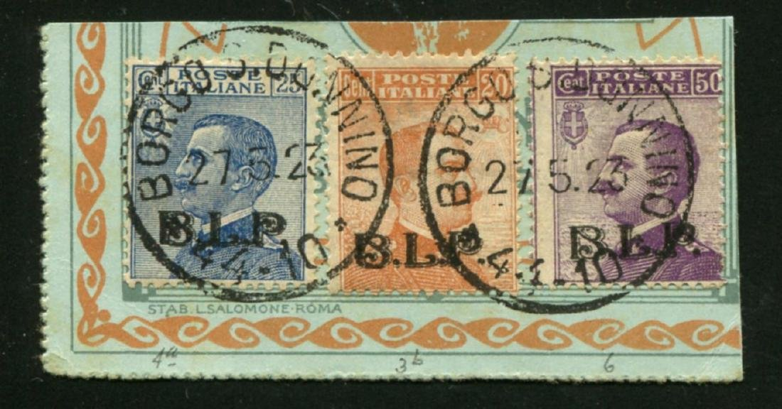 Italy B11, B12 and B14 Used on Piece.