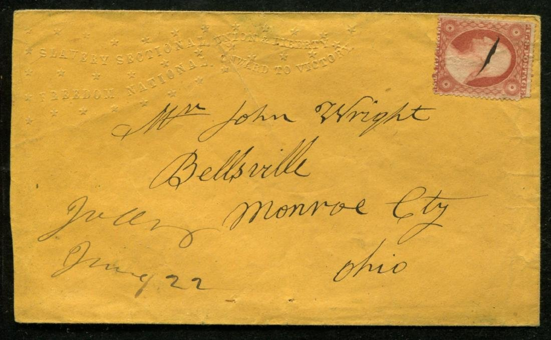 1860 Lincoln Campaign Cover.