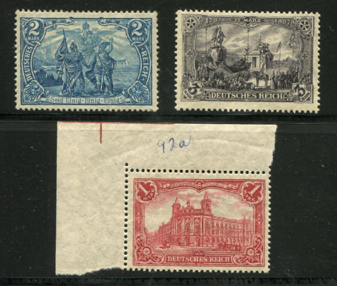Germany #92a, 93b and 94c.