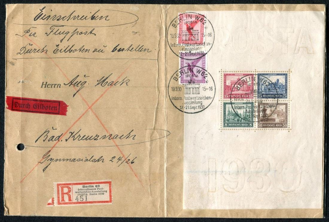 Germany B33 on Cover.