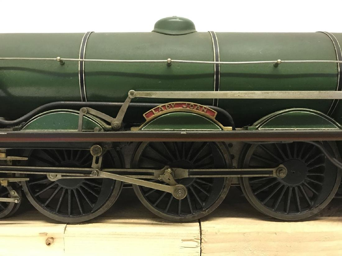 """Lady Joan Live Steam Engine and Tender, 40"""" Long - 5"""