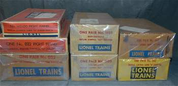 Lionel Lot of Boxed Switch Tracks