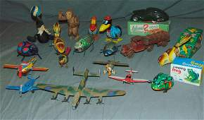 Mixed Toy Lot Tin Litho and Cast Iron