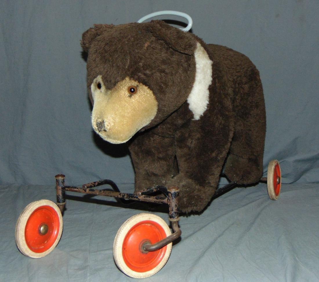 Steiff Ride on Bear on Wheels.