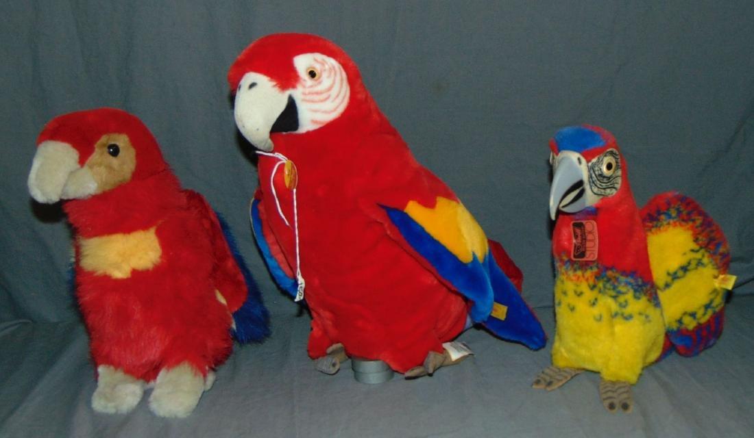 Lot of Parrots Including Steiff