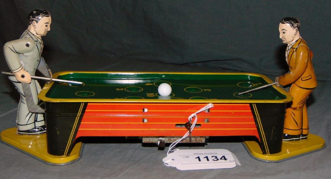 Tin Lithographed Billiards Players, Ranger Steel
