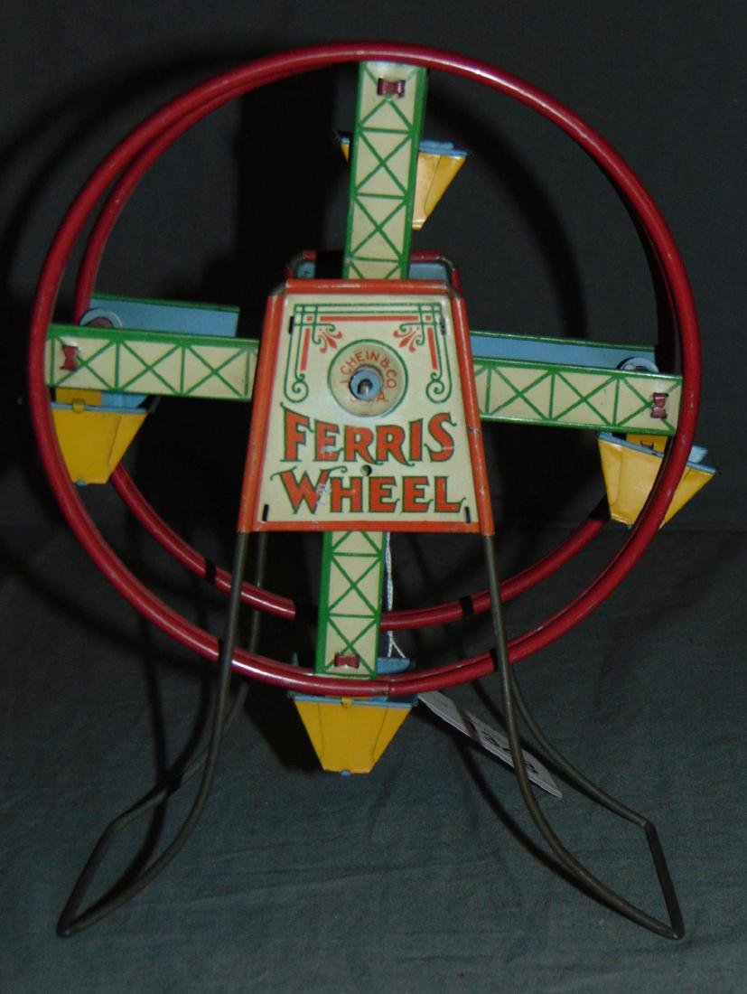 Rare, J. Chein Tin Litho Ferris Wheel, 1920's