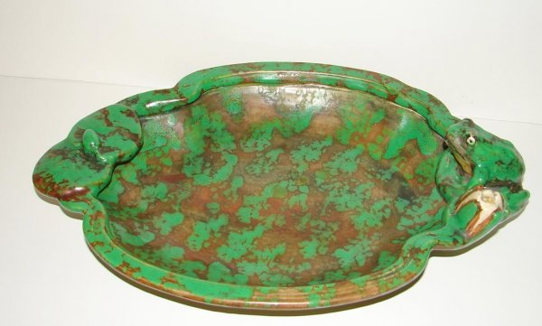 1016: WELLER COPPERTONE FROG CONSOLE BOWL