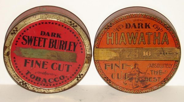 2013: LOT OF TWO TOBACCO ROUND TINS.