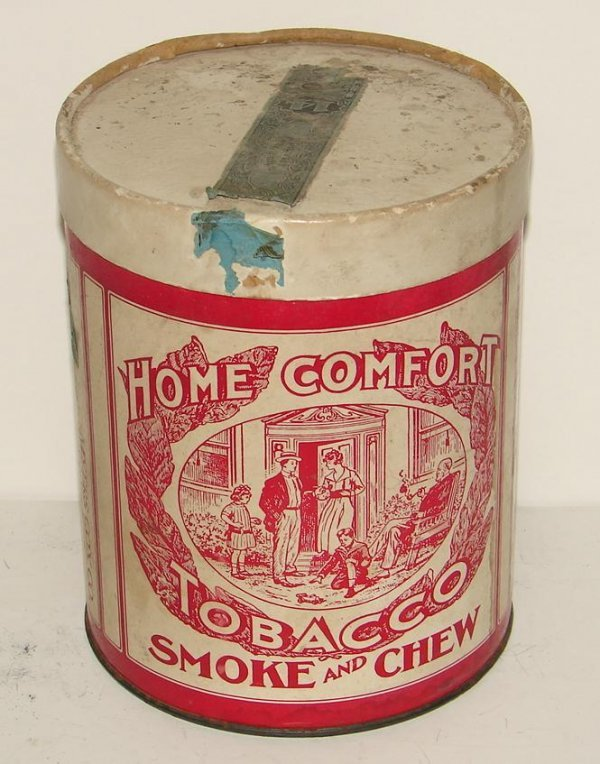 2014: HOME COMFORT TOBACCO CONTAINER.