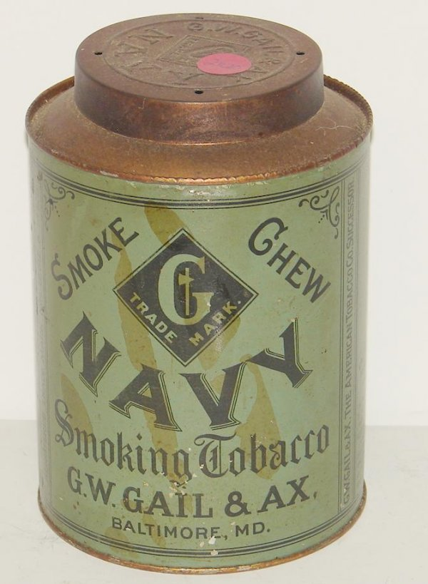2020: SMOKE CHEW NAVY TIN.