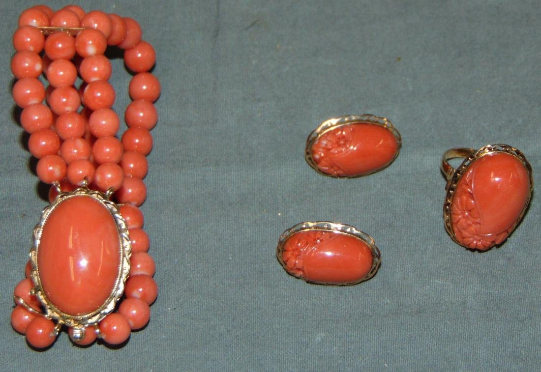Salmon Coral Jewelry.