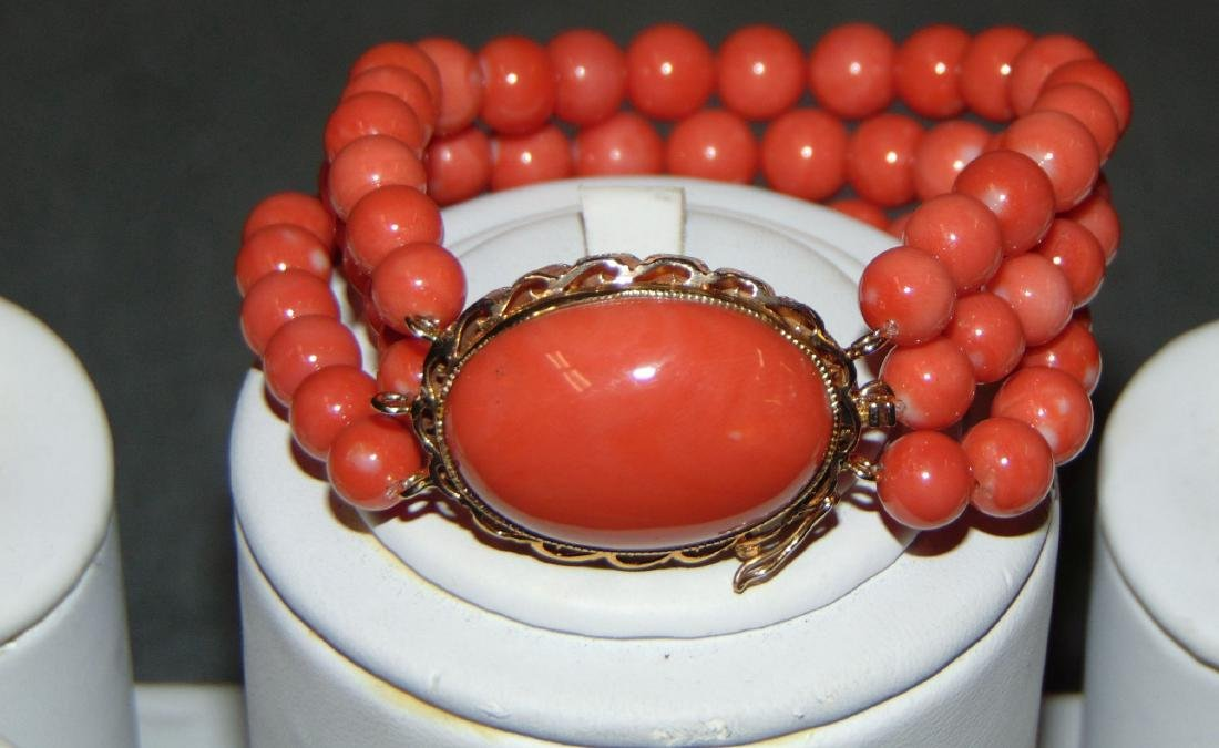 Salmon Coral Jewelry. - 2