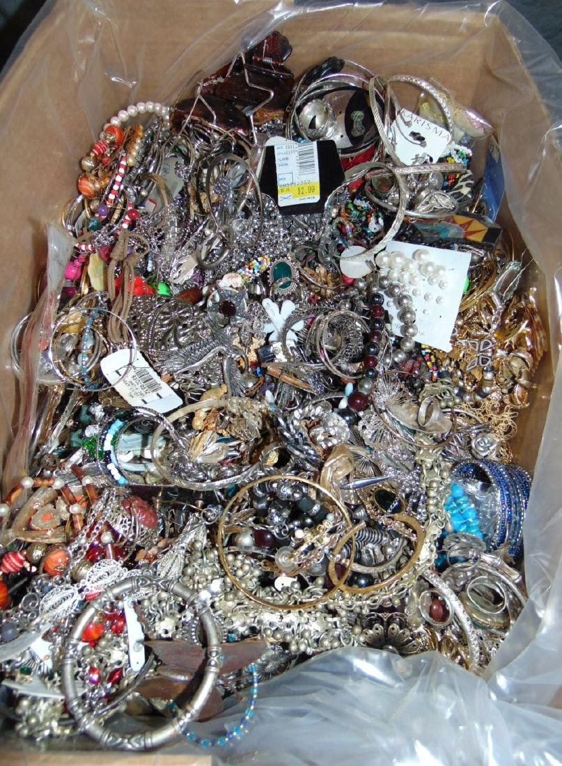 Huge Box of Costume Jewelry. - 6