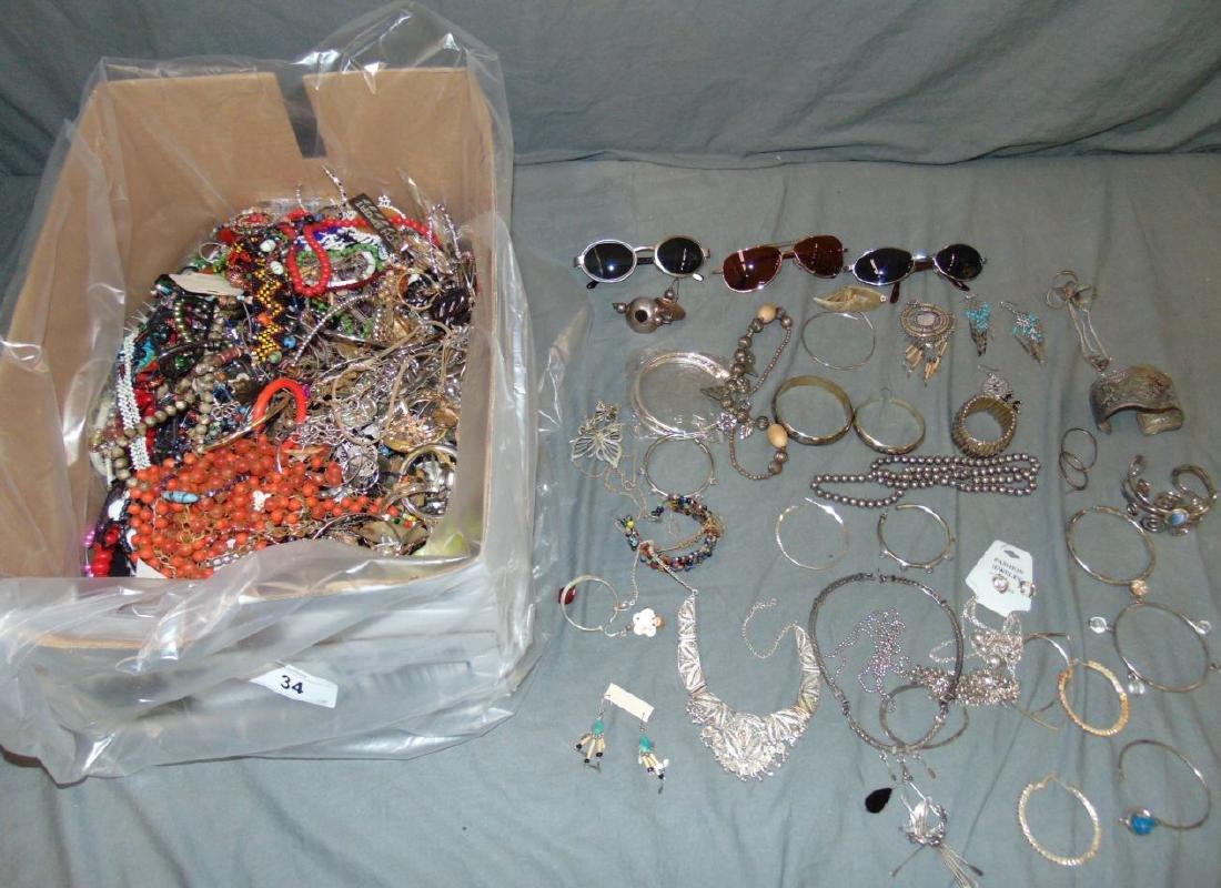 Huge Box of Costume Jewelry.