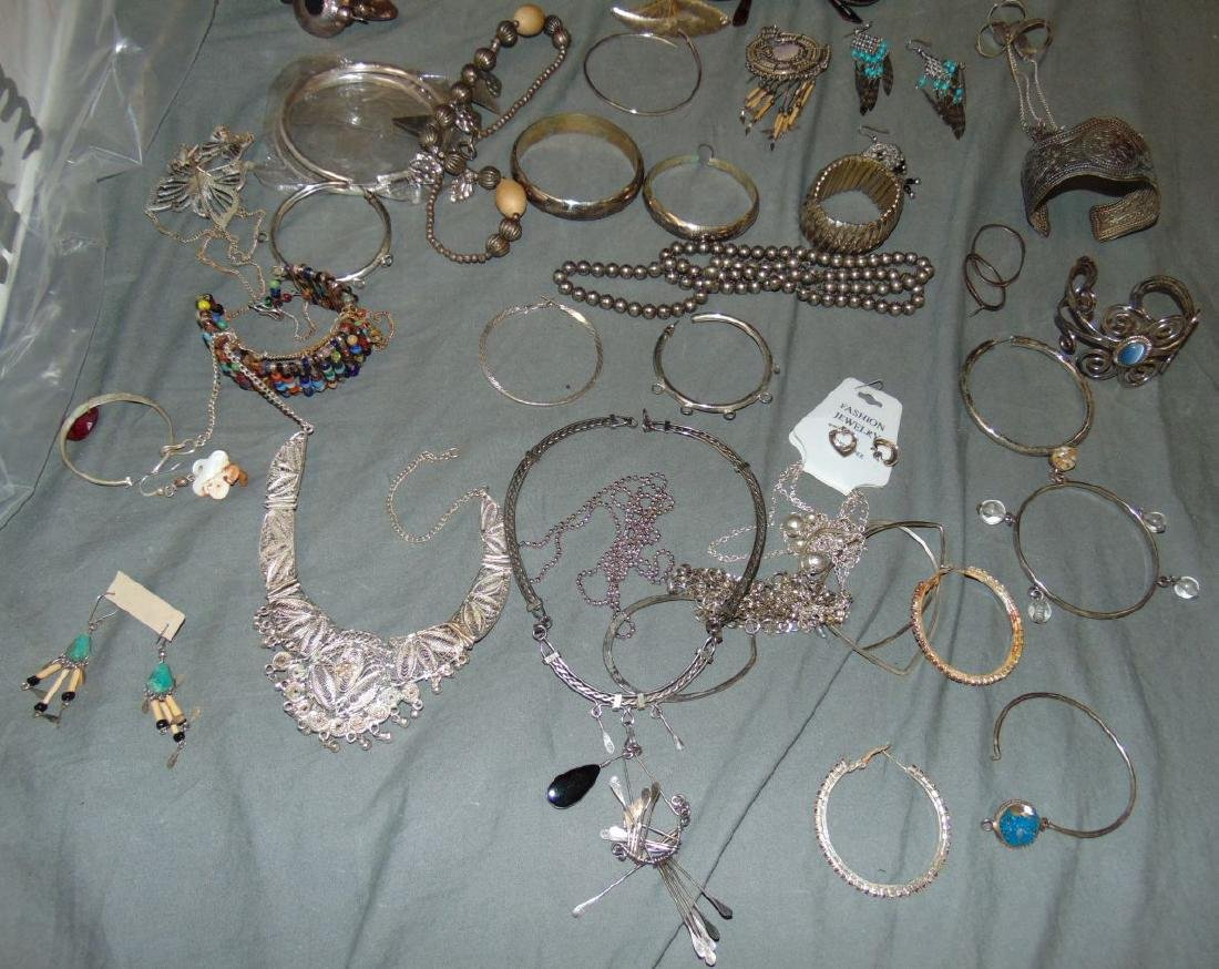 Huge Box of Costume Jewelry. - 3