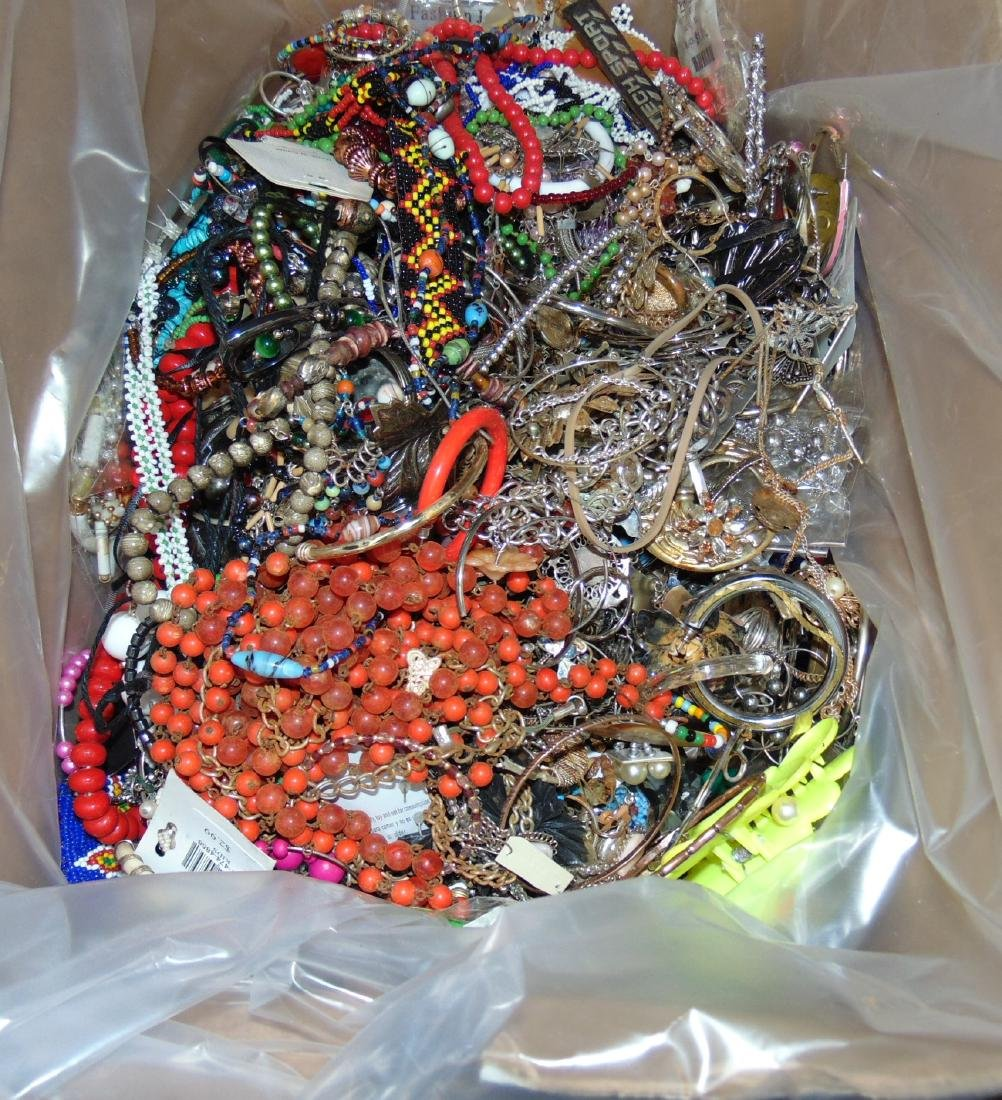 Huge Box of Costume Jewelry. - 5