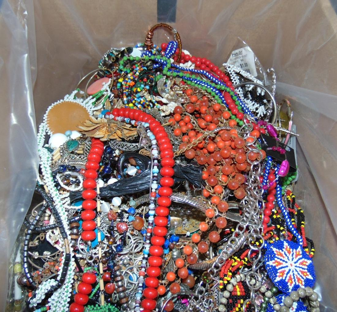 Huge Box of Costume Jewelry. - 6