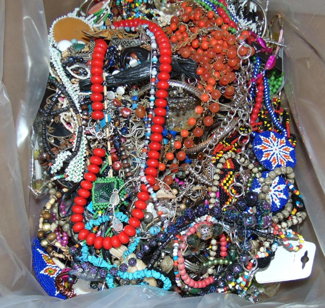 Huge Box of Costume Jewelry. - 7
