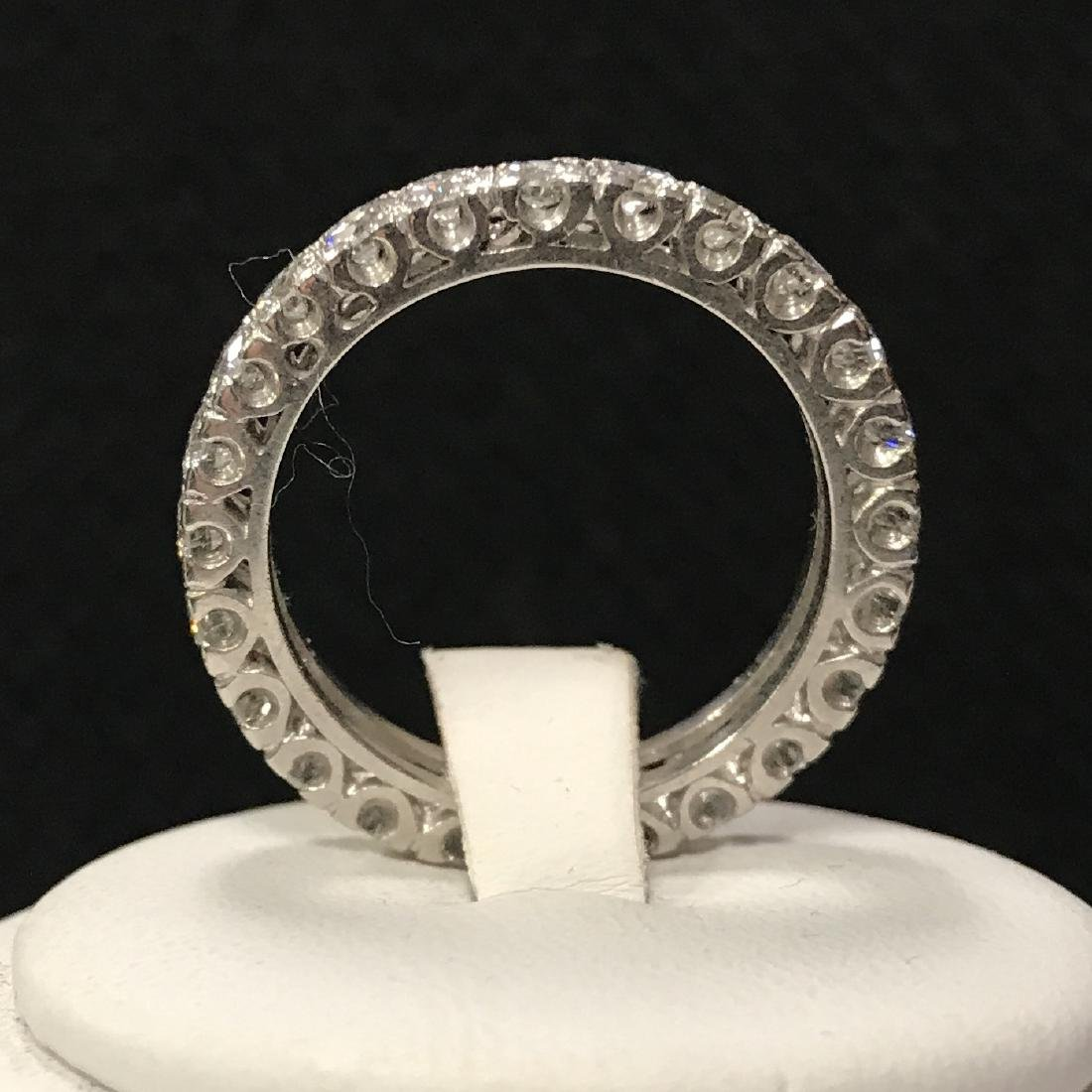 Platinum Lady's Diamond Eternity Wedding Ring.