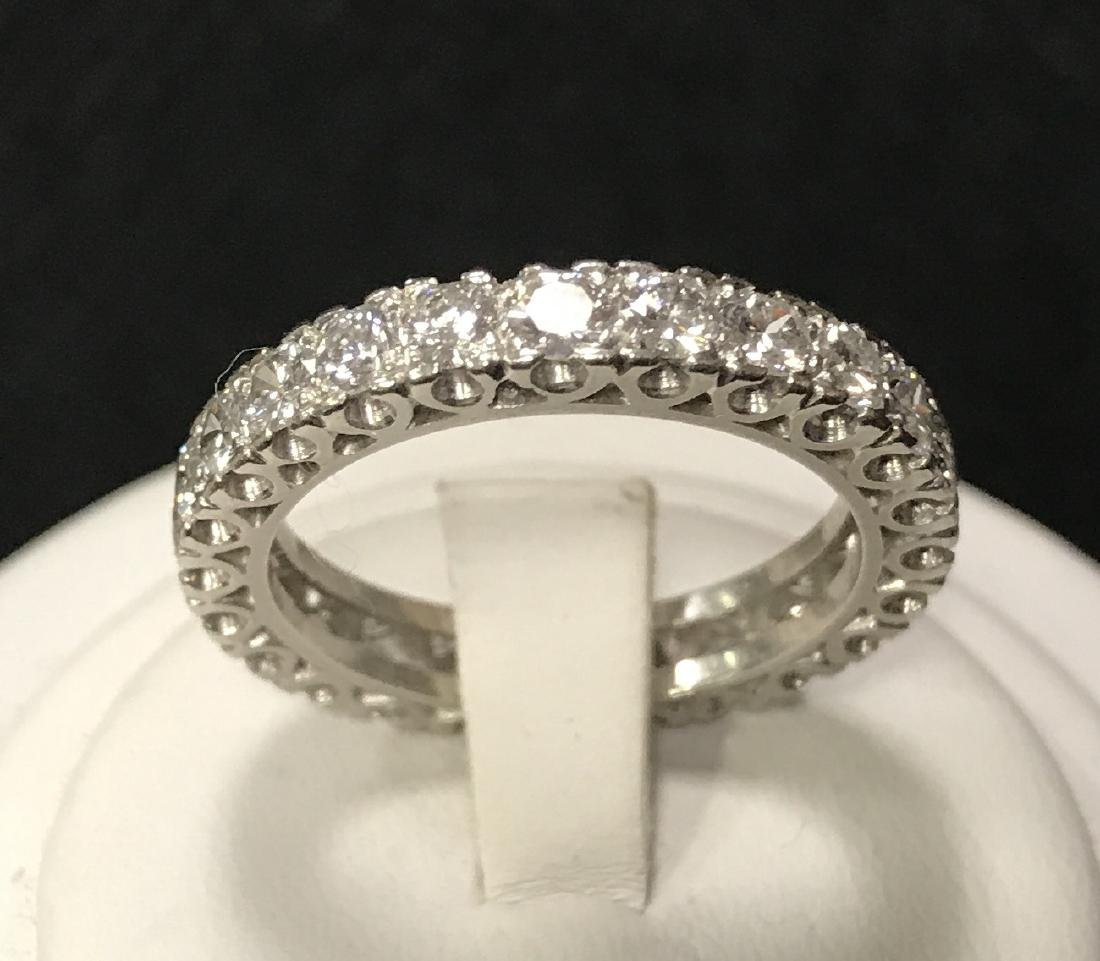 Platinum Lady's Diamond Eternity Wedding Ring. - 2