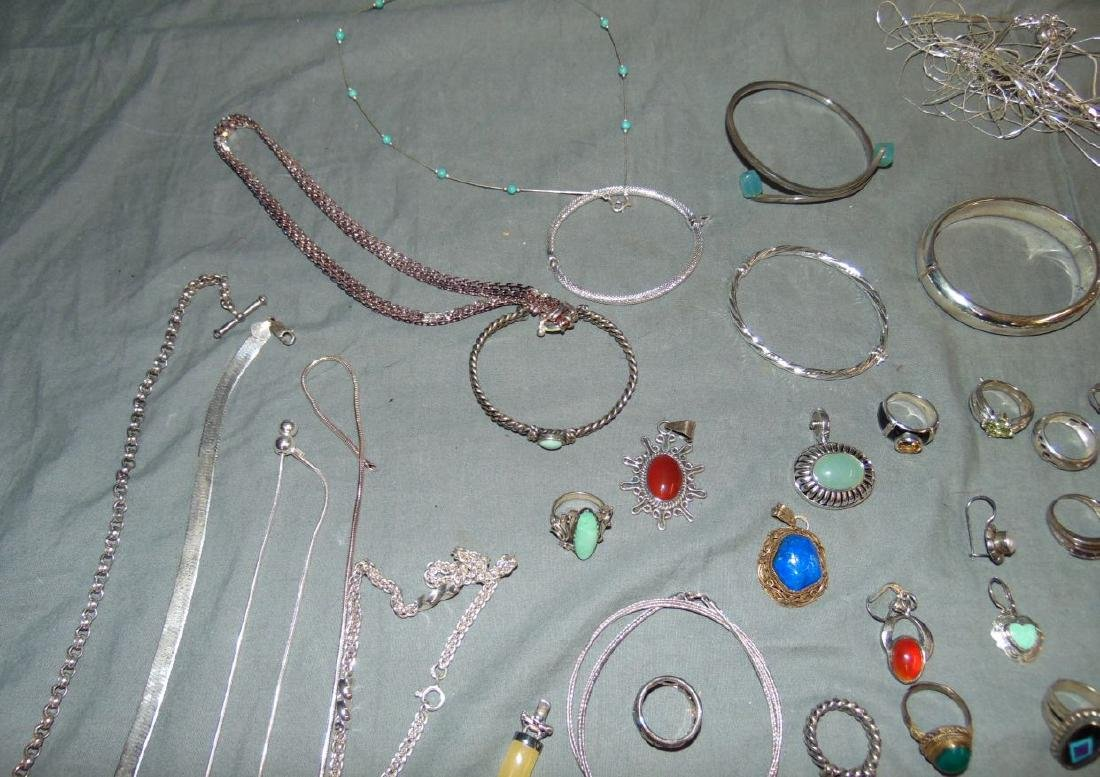 Assorted Silver Jewelry Lot. - 10