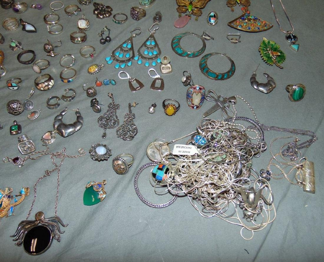 Assorted Silver Jewelry Lot. - 3