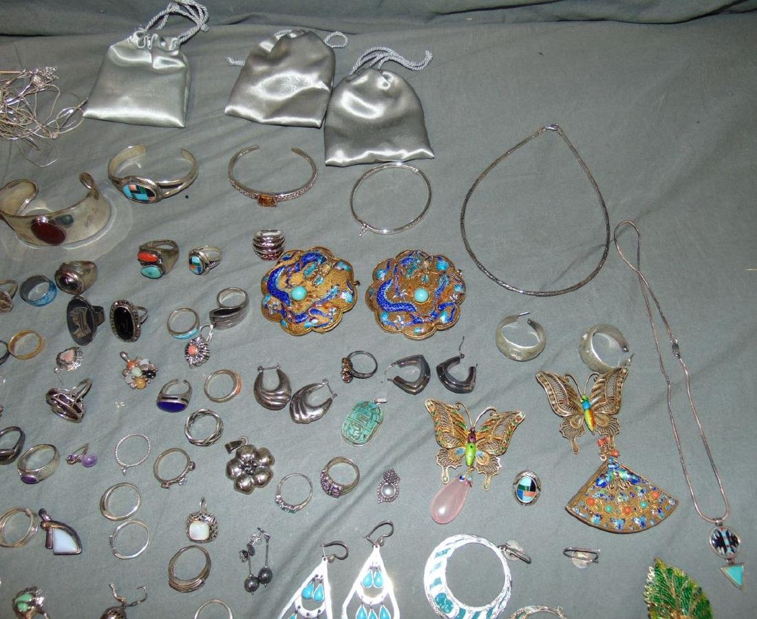 Assorted Silver Jewelry Lot. - 4