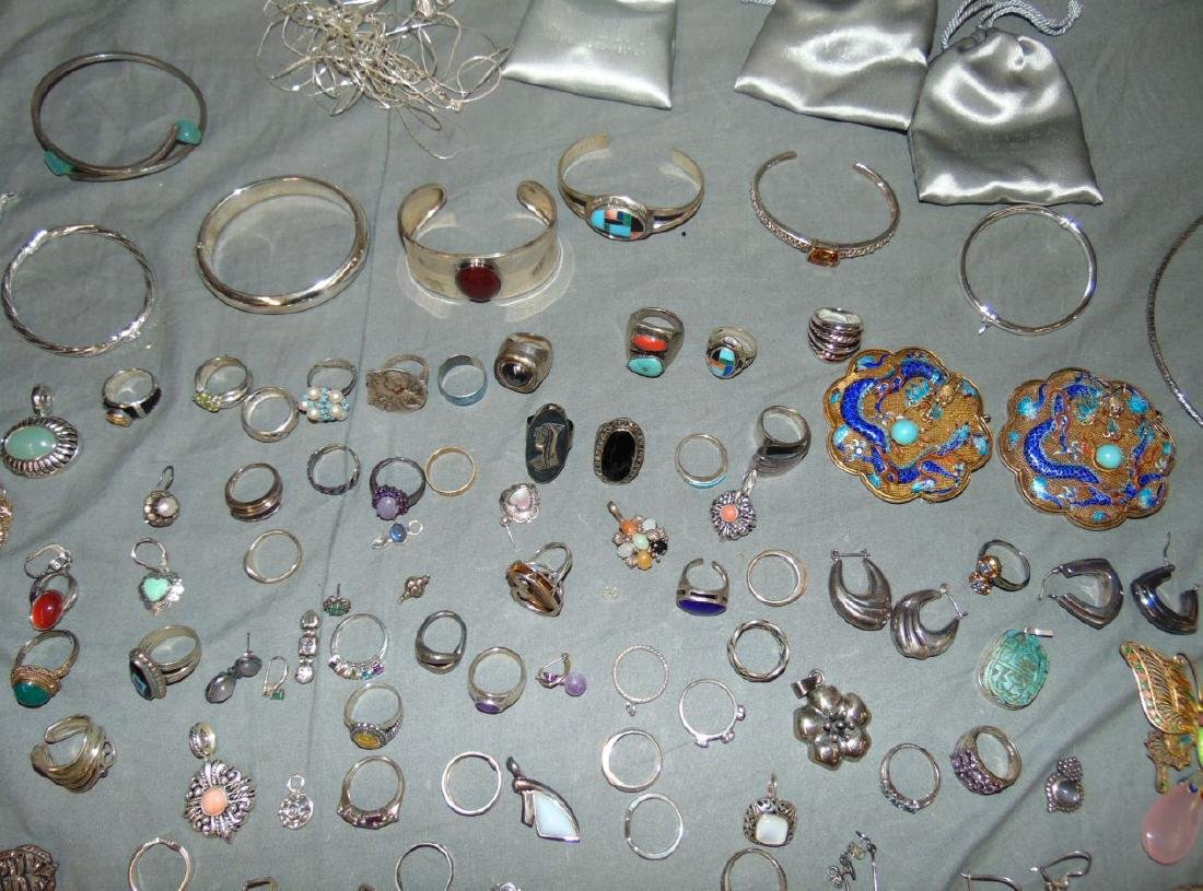 Assorted Silver Jewelry Lot. - 5