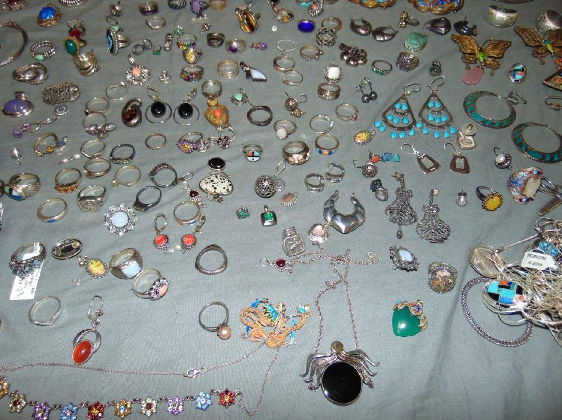 Assorted Silver Jewelry Lot. - 6