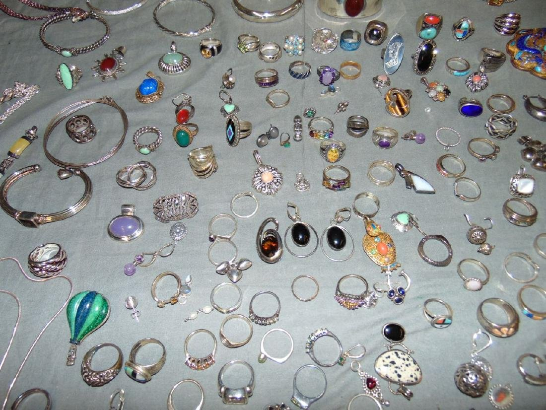 Assorted Silver Jewelry Lot. - 8