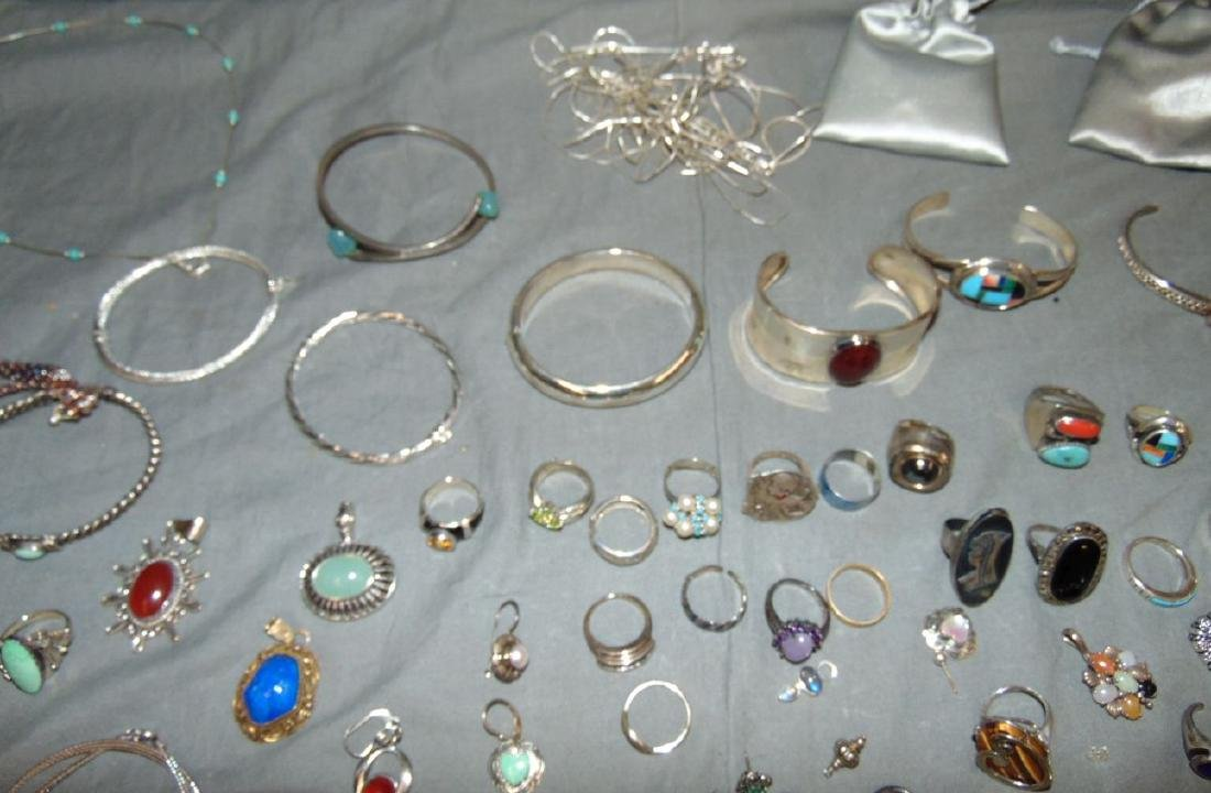 Assorted Silver Jewelry Lot. - 9