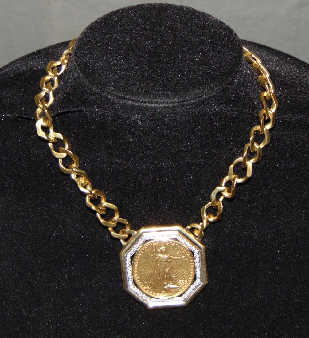 Custom $20 Double Eagle with Coin Necklace.