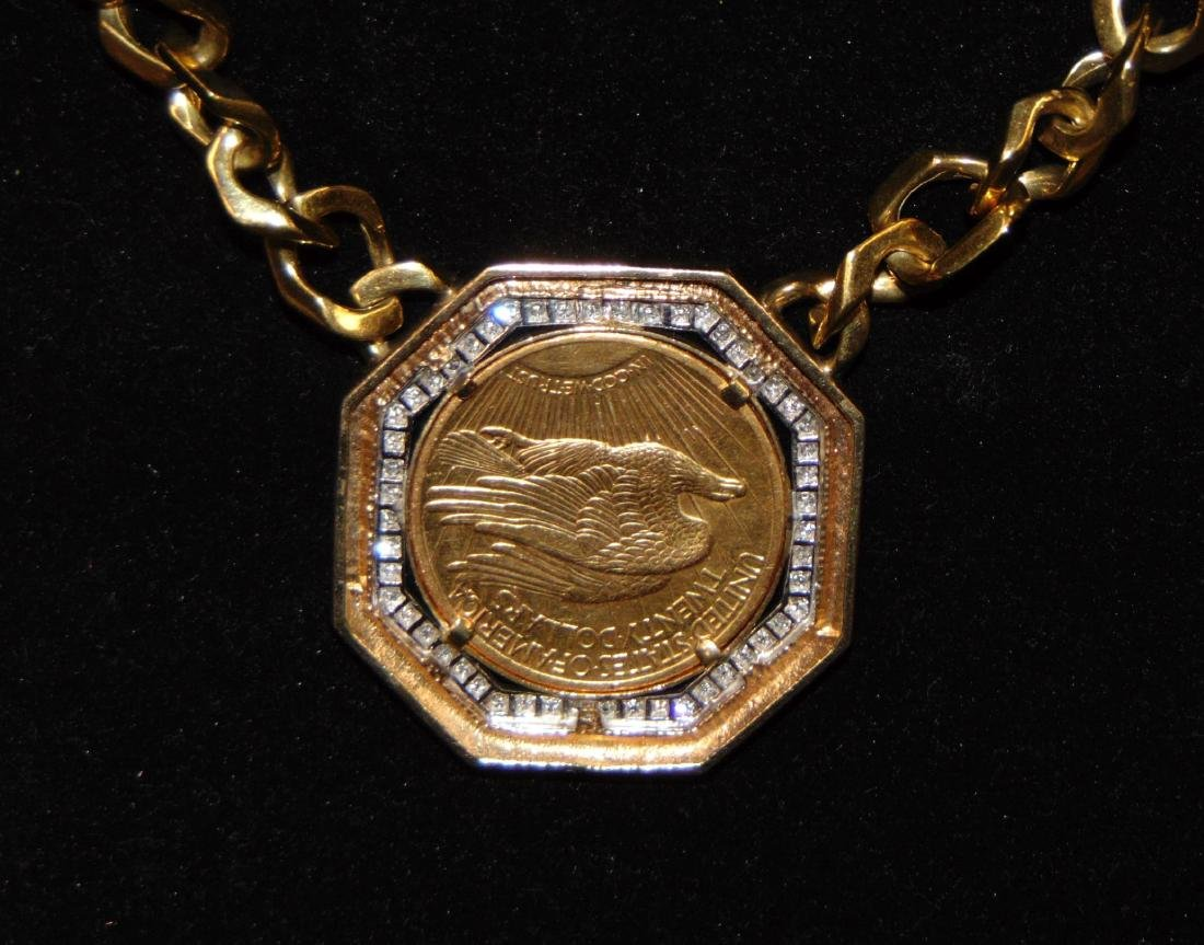 Custom $20 Double Eagle with Coin Necklace. - 3