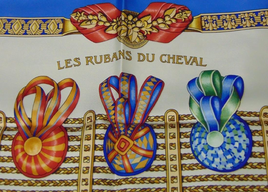 Hermes Silk Scarf. Les Rubans du Cheval. - 2