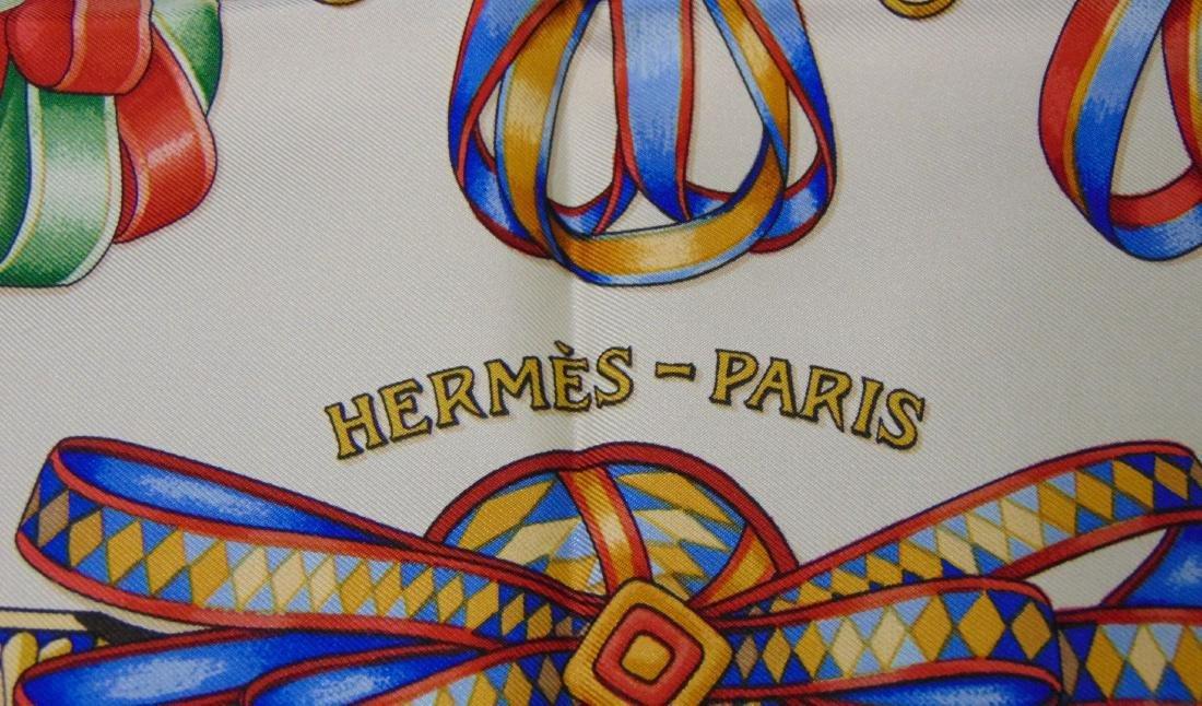 Hermes Silk Scarf. Les Rubans du Cheval. - 4