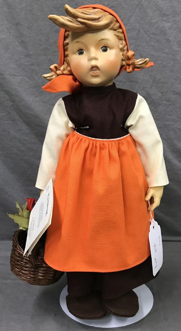 Hummel On Holiday Collector Doll. Cloth Body