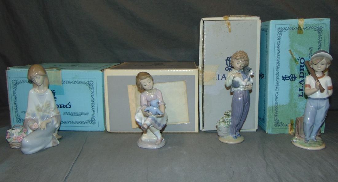 Lladro Figurines. Lot of 4