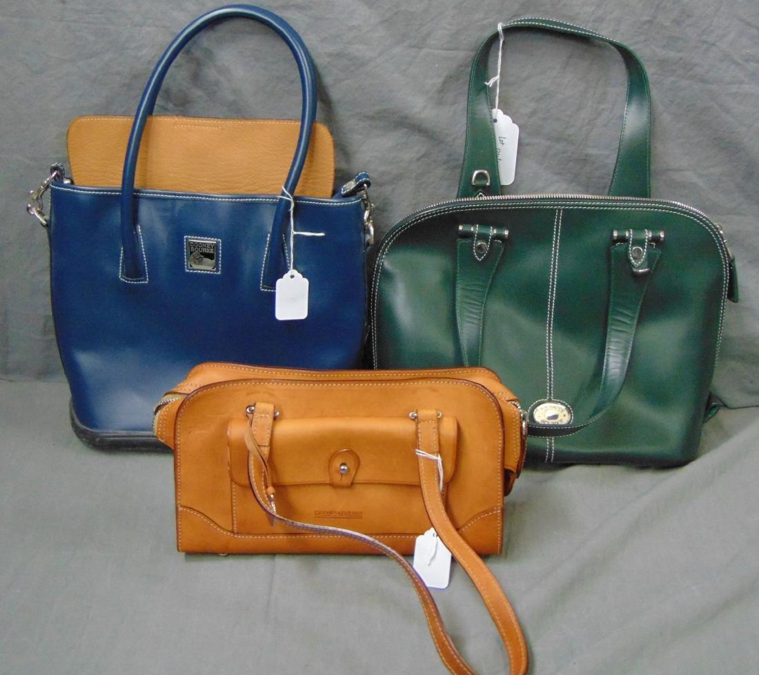Dooney & Bourke. Lot of 3 Handbags