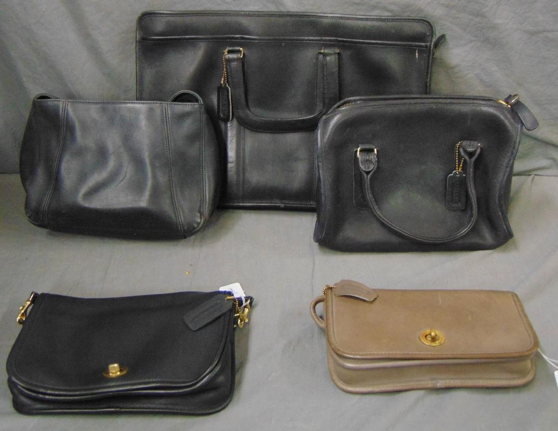 Designer Coach Bags. Lot of 5.