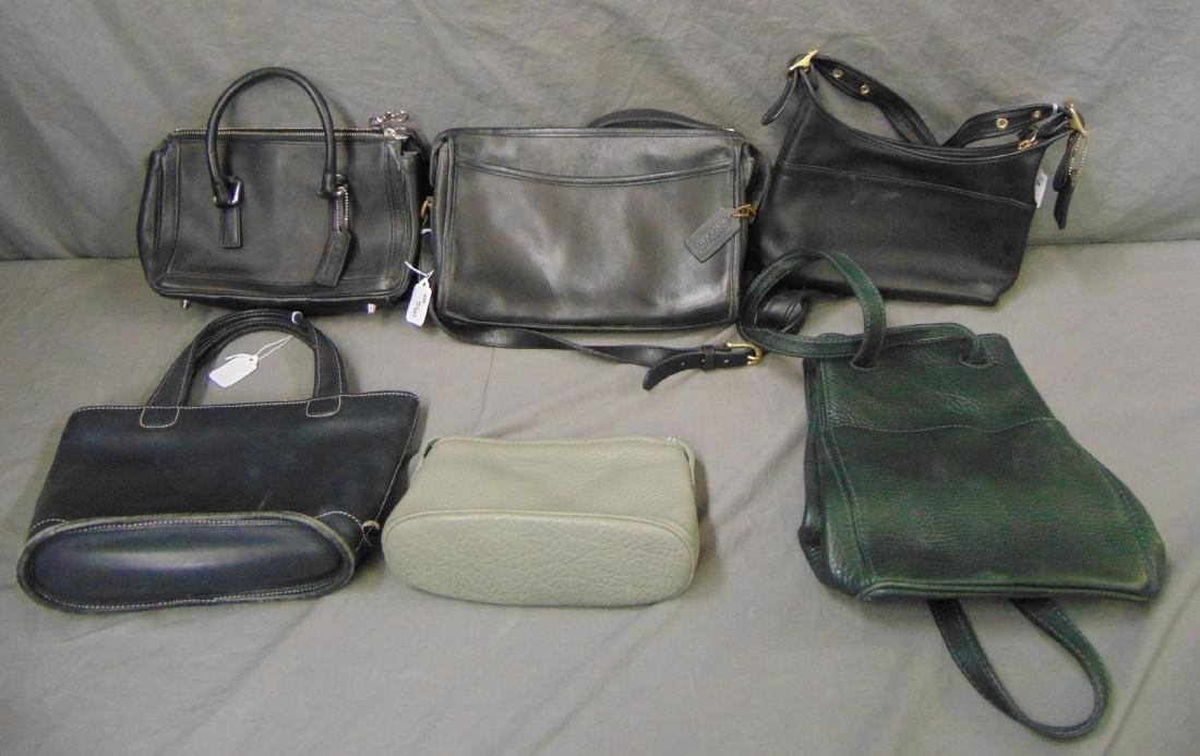 Designer Coach Bags. Lot of 6.
