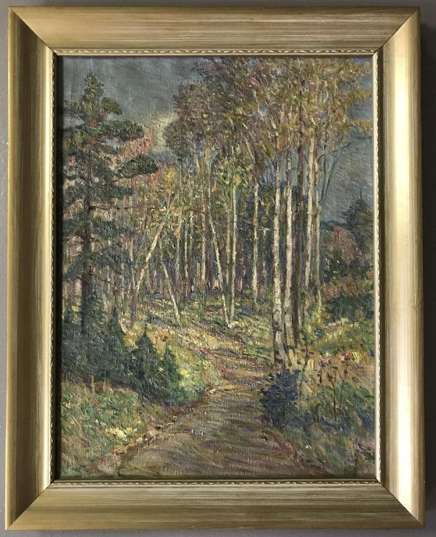 Charles Jay Taylor, Oil on Canvas Wooded Landscape