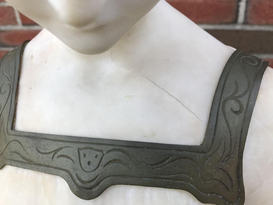 Alabaster Bust of a Woman, Signed Lenter - 3