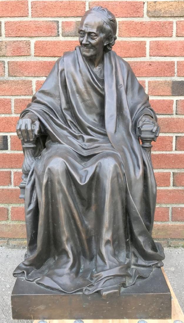 Jean Antoine Houdon, Bronze, Voltaire Sitting