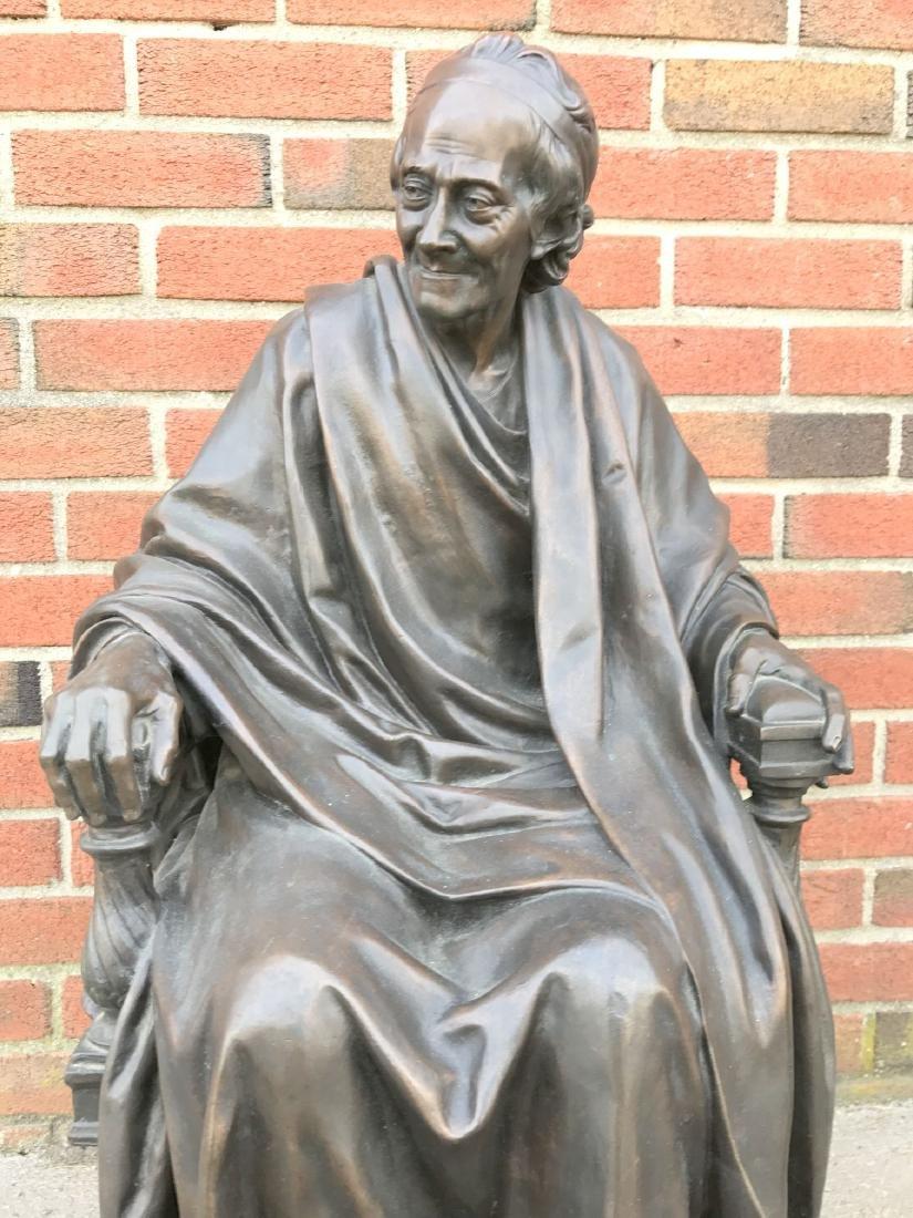 Jean Antoine Houdon, Bronze, Voltaire Sitting - 2