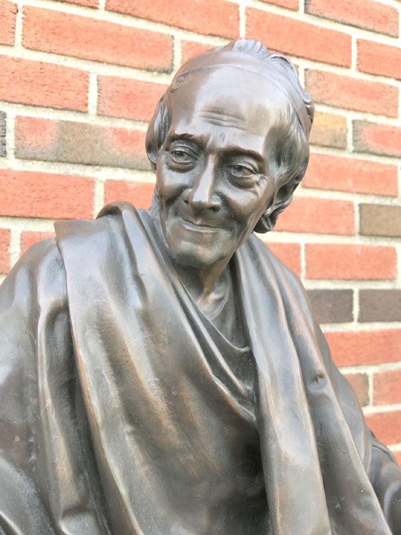 Jean Antoine Houdon, Bronze, Voltaire Sitting - 3