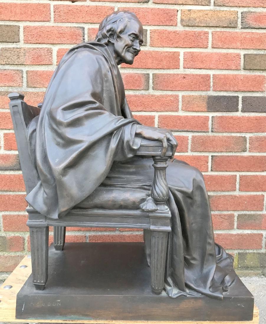 Jean Antoine Houdon, Bronze, Voltaire Sitting - 4