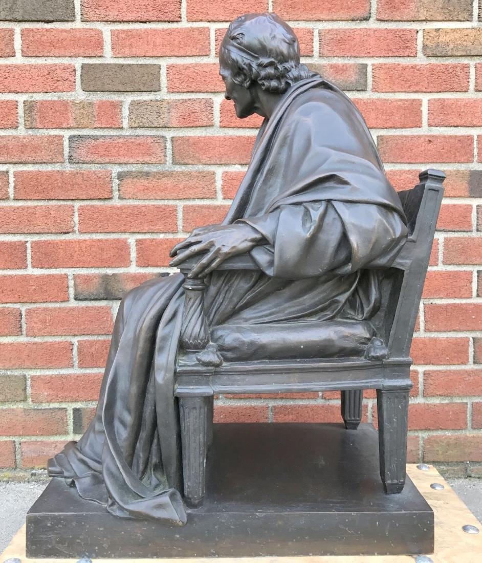 Jean Antoine Houdon, Bronze, Voltaire Sitting - 6