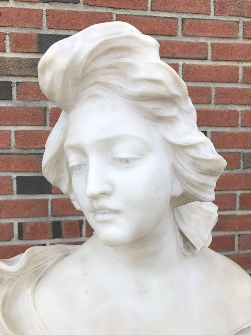 Alabaster Bust of a Woman, Unsigned - 2