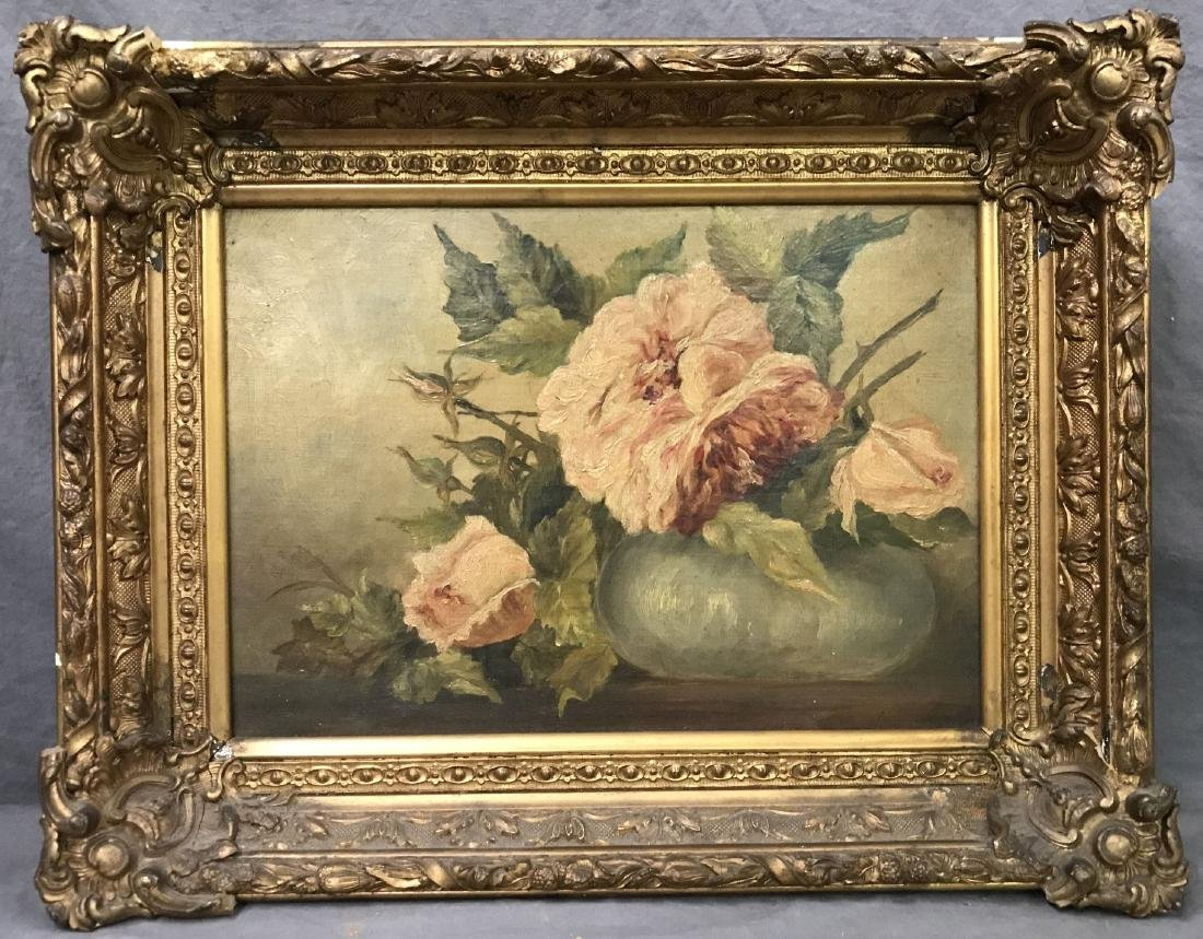 Floral Still Life, Oil on Canvas, Artist Signed